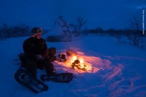 Finnland Valle Utsjoki Schneeschuhwanderung