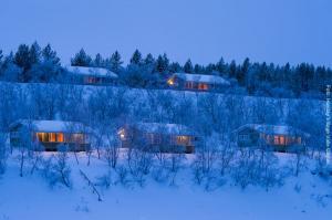 Lappland Reise Utsjoki Huetten Aussen