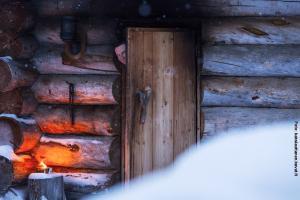 Glasiglus Finnland, Kakslauttanen, Rauchsauna