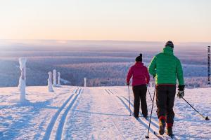 Glasiglus Finnland, Kakslauttanen Skilanglauf