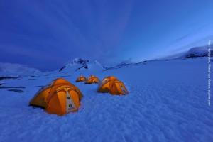 Antarktis Zelten