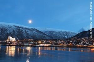Norwegen-Tromso-Postschiff