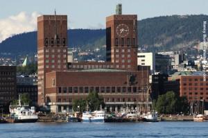 Norwegen Oslo Rathaus