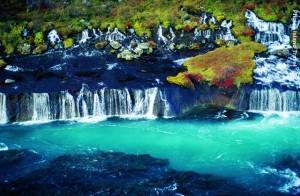 Island_Hraunfossar