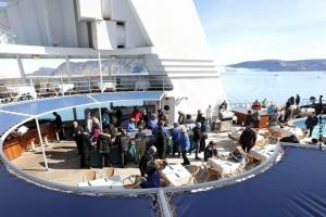 Island Seereise Deck