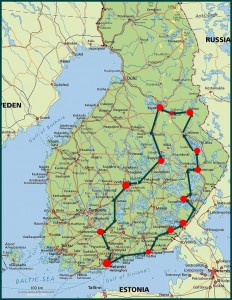 finnland-rundreise-1-route