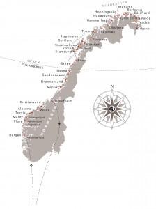Postschiffreise Norwegen