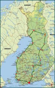 Finnland Rundreise Auto 2015