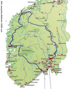 Norwegen PKW Reise 2 Wochen