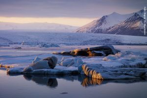 Island Winterreise Gletscher