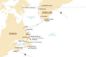 Groenland-Neufundland-Schiffsreise