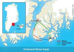 Groenland Reise Kayak